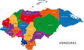 Honduras map — Stock Vector