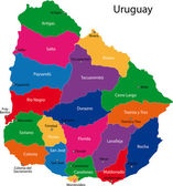 Uruguay map — Stock Vector