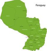 Zelená mapa paraguay — Stock vektor