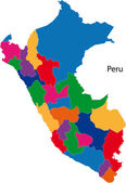 Colorful Peru map