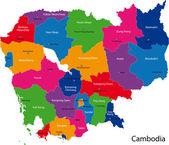 Cambodia map — Stock Vector