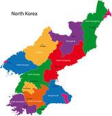 North Korea map — Stock Vector
