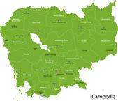 Green Cambodia map — Stock Vector