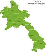 Green Laos map — Stock Vector