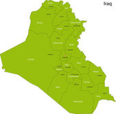 Green Iraq map — Vetor de Stock