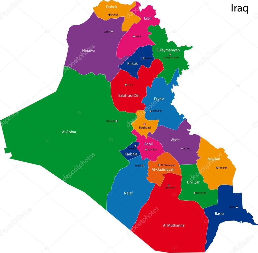 Mapa de Irak Vector de stock Volina 32476459 – Mapa De Iraq