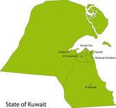 Mapa verde do kuwait — Vetorial Stock