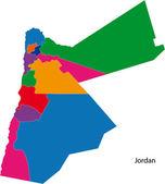 Mapa colorido de jordan — Vetorial Stock