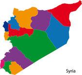 カラフルなシリアの地図 — ストックベクタ