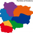 Постер, плакат: Colorful Andorra map