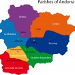 Постер, плакат: Andorra map