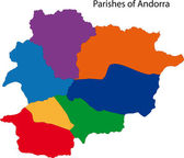 Colorful Andorra map — Stock Vector
