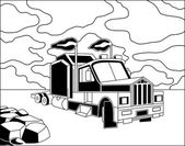 Semi truck — Stock Vector