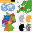Germany map — Stock Vector #33923369