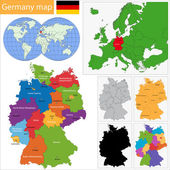 Germany map — Stock Vector