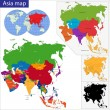 Colorful Asia map — Stock Vector