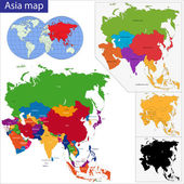 Colorful Asia map — Stok Vektör