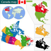 Colorful Canada map — Stock Vector