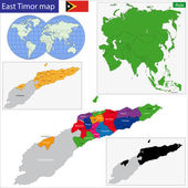 East Timor map — Stock Vector