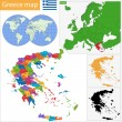 Greece map — Vector de stock