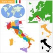 Stock Vector: Italy map