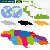 Map of Jamaica — Stock Vector