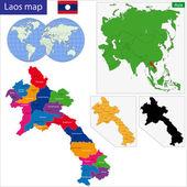Laos map — Stock Vector