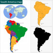 South America map — Stock Vector #37159769