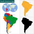 South America map — Stock Vector