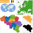 Stock Vector: Belgium map