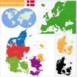 Denmark map — Stock Vector