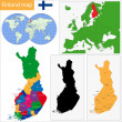 Finland map — Stockvector #38624727