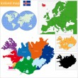 Iceland map — Stock Vector