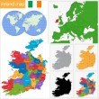 Stok Vektör: Ireland map