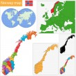 Stock Vector: Norway map