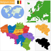 Belgium map — Stock Vector