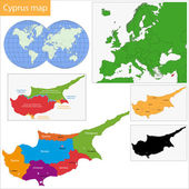 Cyprus map — Stock Vector