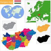 Hungary map — Stock Vector