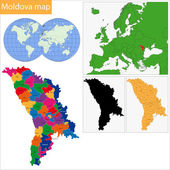 Moldova map — Stock Vector
