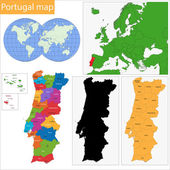 Portugal map — Stock Vector