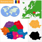 Romania map — Stock Vector
