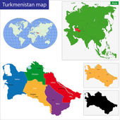 Turkmenistan map — Stock Vector
