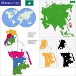 Macao map — Stock Vector #43052299