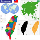 Taiwan map — Stock Vector