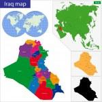 Постер, плакат: Iraq map