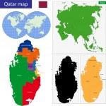 Постер, плакат: Qatar map