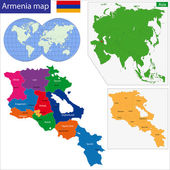 Armenia map — Stock Vector