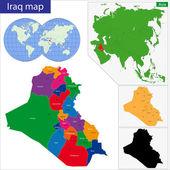 Iraq map — Stock Vector