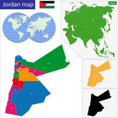 Jordan map — Stock Vector