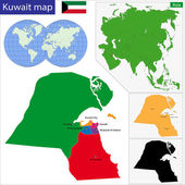 Kuwait map — Stock Vector